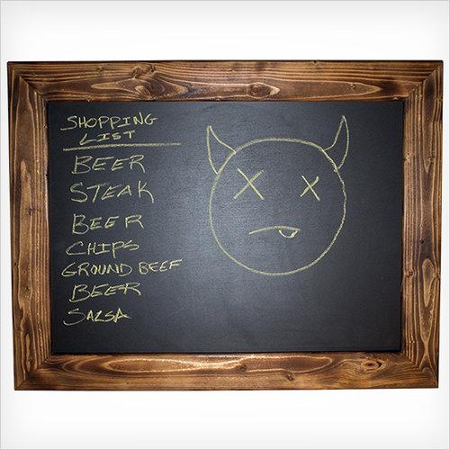 wood framed chalkboard - Wood Framed Chalkboard