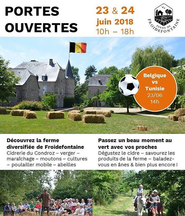 Portes Ouvertes de la Ferme ce 23-24 juin. Yeah. #été2018 Événement FB: https://www.facebook.com/events/156168151905249/?ti=icl
