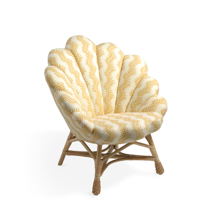 Upholstered Rattan Venus Chair from Soane Britain