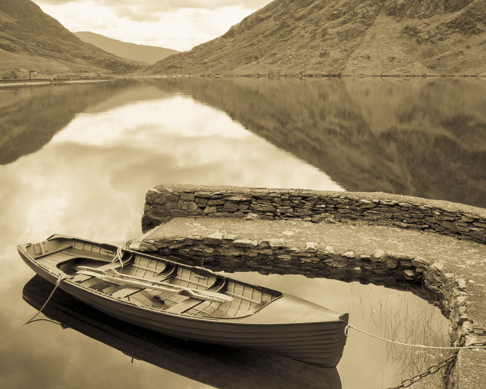 """Boat with Stone Wall"""