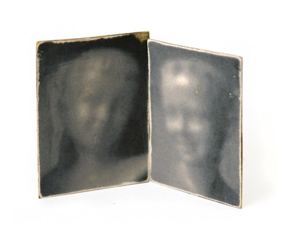 David & Pamela Study (Inkjet Print Mounted on Cardstock with Wood)