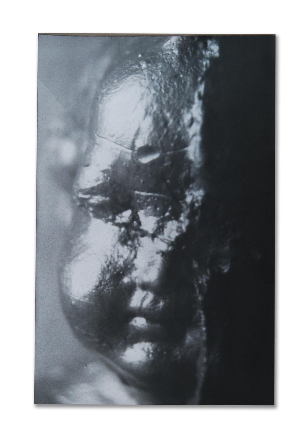 Metallic Cupid (Darkroom print on metallic paper, mounted on cardstock)
