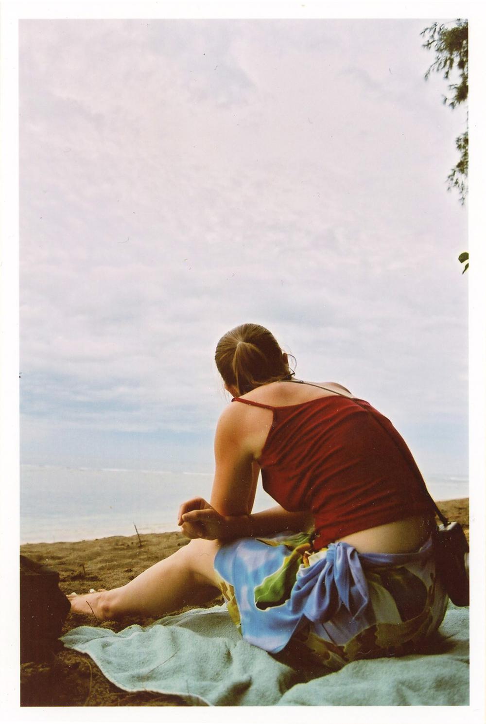 Maia on the Beach, 2003