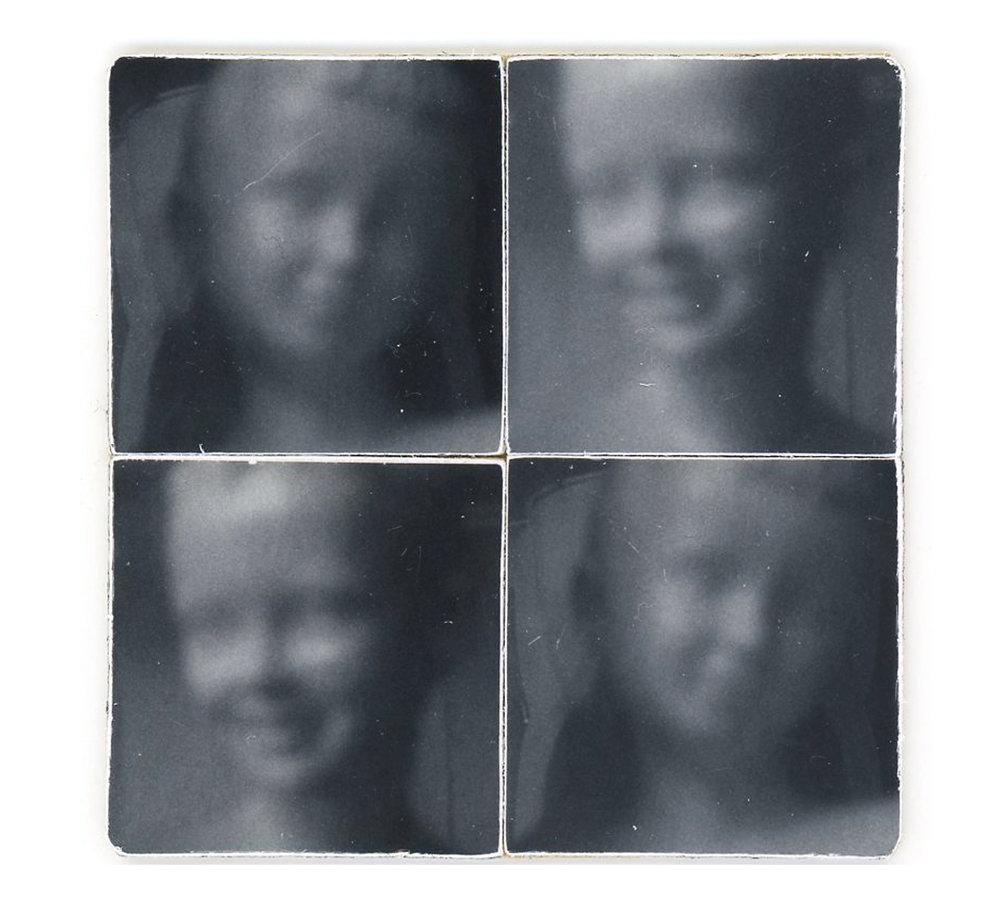 David and Pamela 4 Squares (Unique polaroid prints, fp-3000B film)