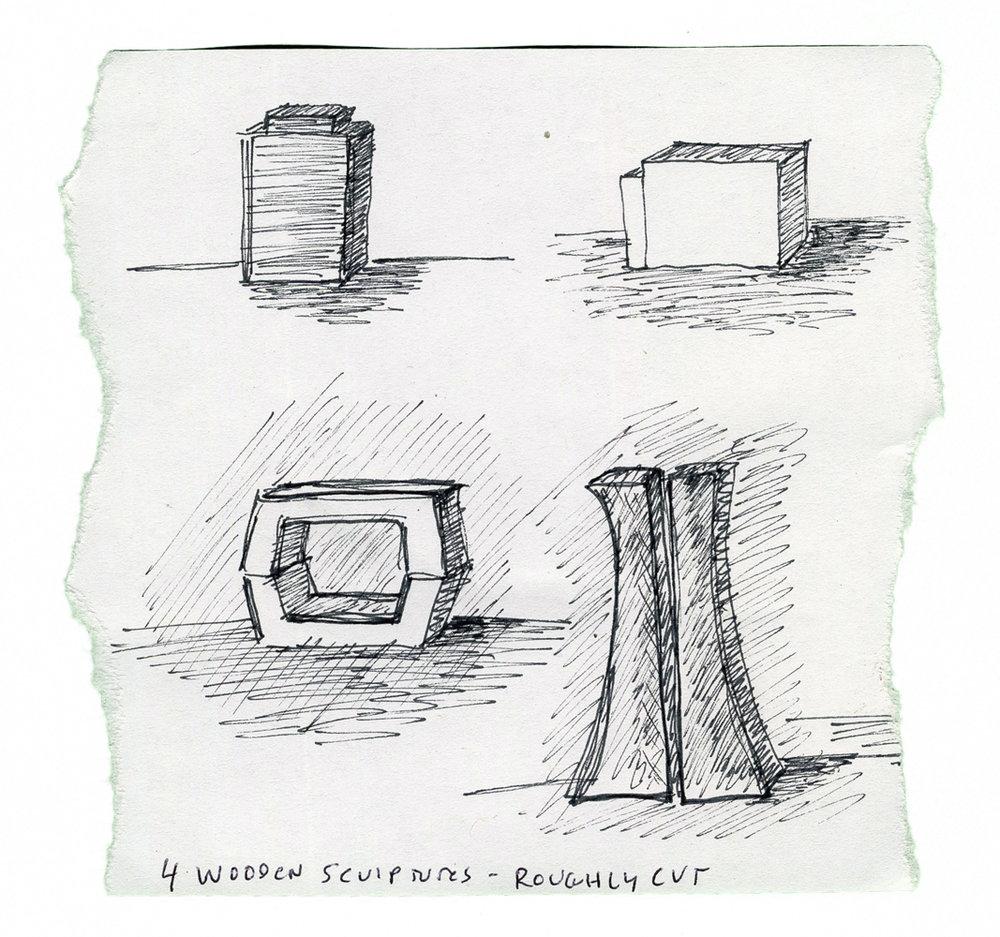Sculpture Sketches, undated
