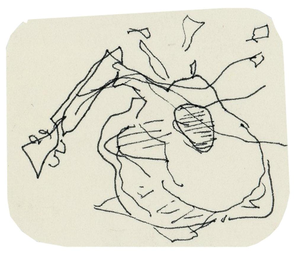 Broken Guitar, undated