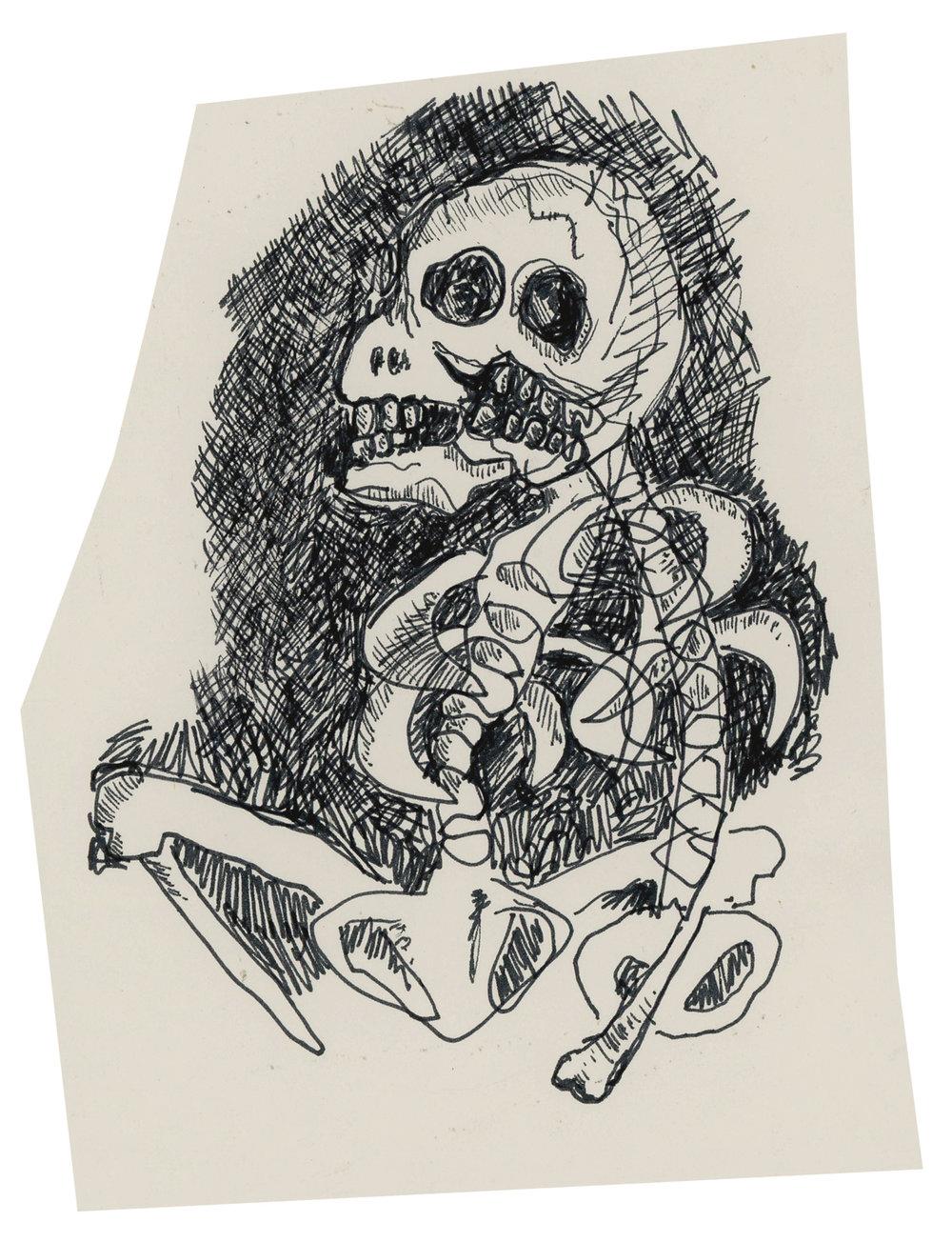 Skeleton / Deformed Man, undated