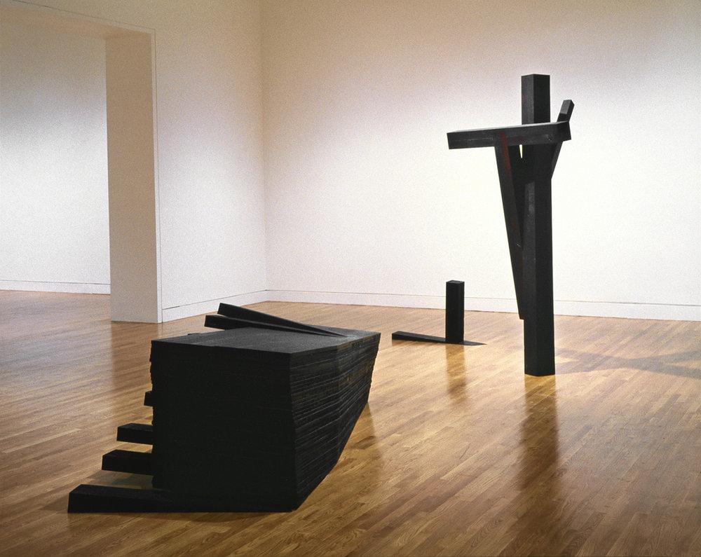 Seuils  (1993)   Bois polychrome, 155,6 x 304 x 670 cm, Musée des beaux-arts du Canada.photo : Richard-Max Tremblay