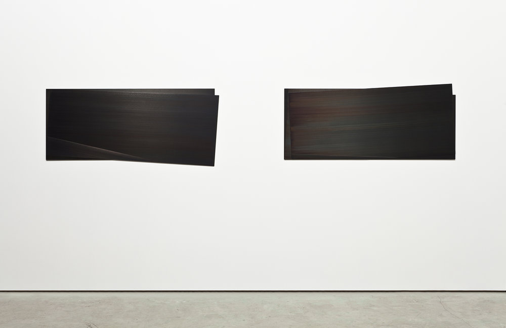 Éclipse I et III    Acier gravé, 57.2 x 138.5 cm, collection Robert-Jean Chenier