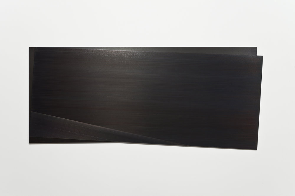Éclipse I    (2011)   Acier gravé, 57.2 x 138.5 cm, collection Robert-Jean Chenier