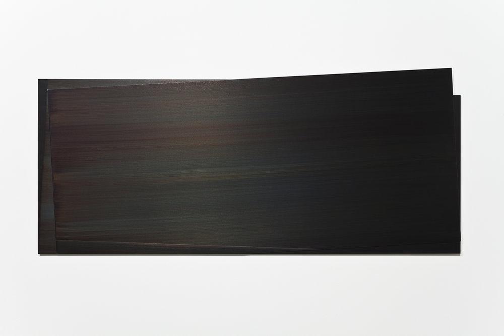 Éclipse III  (2012)   Acier gravé, 57.2 x 138.5 cm, collection Robert-Jean Chenier