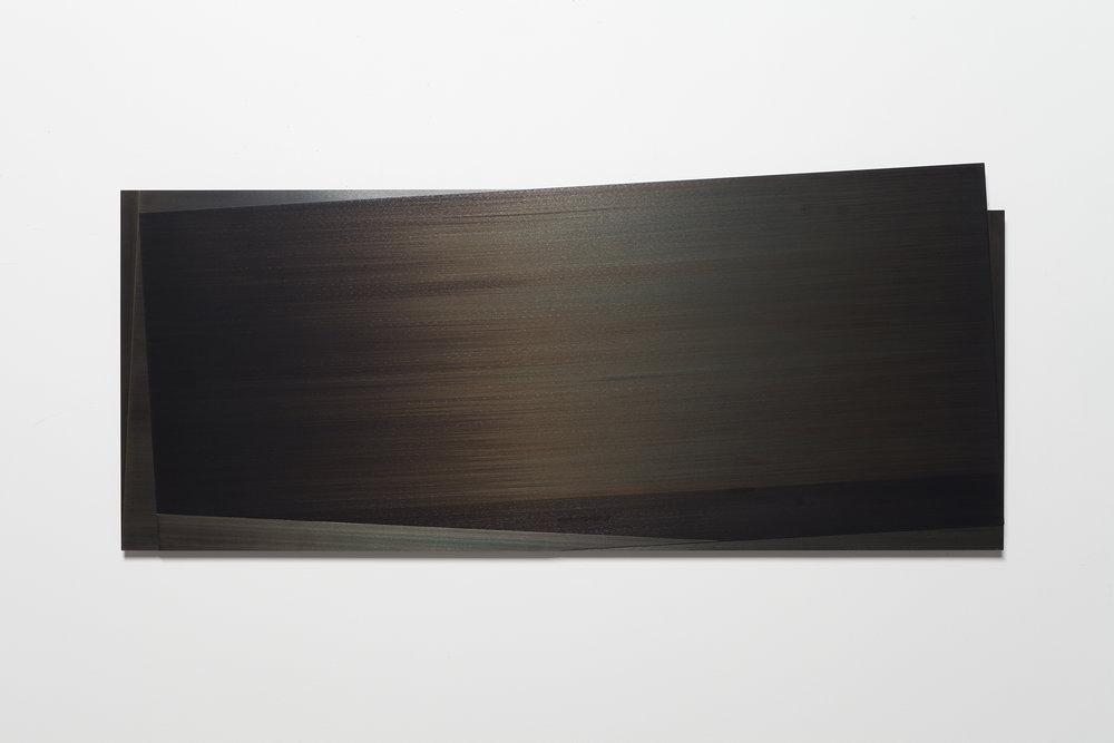 Éclipse IV  (2012)   Acier gravé, 57.2 x 138.5 cm
