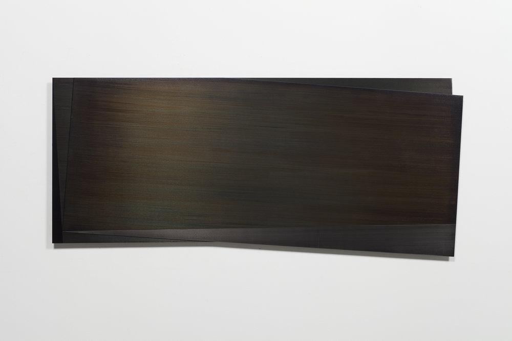 Éclipse II  (2011)   Acier gravé, 57.2 x 138.5 cm