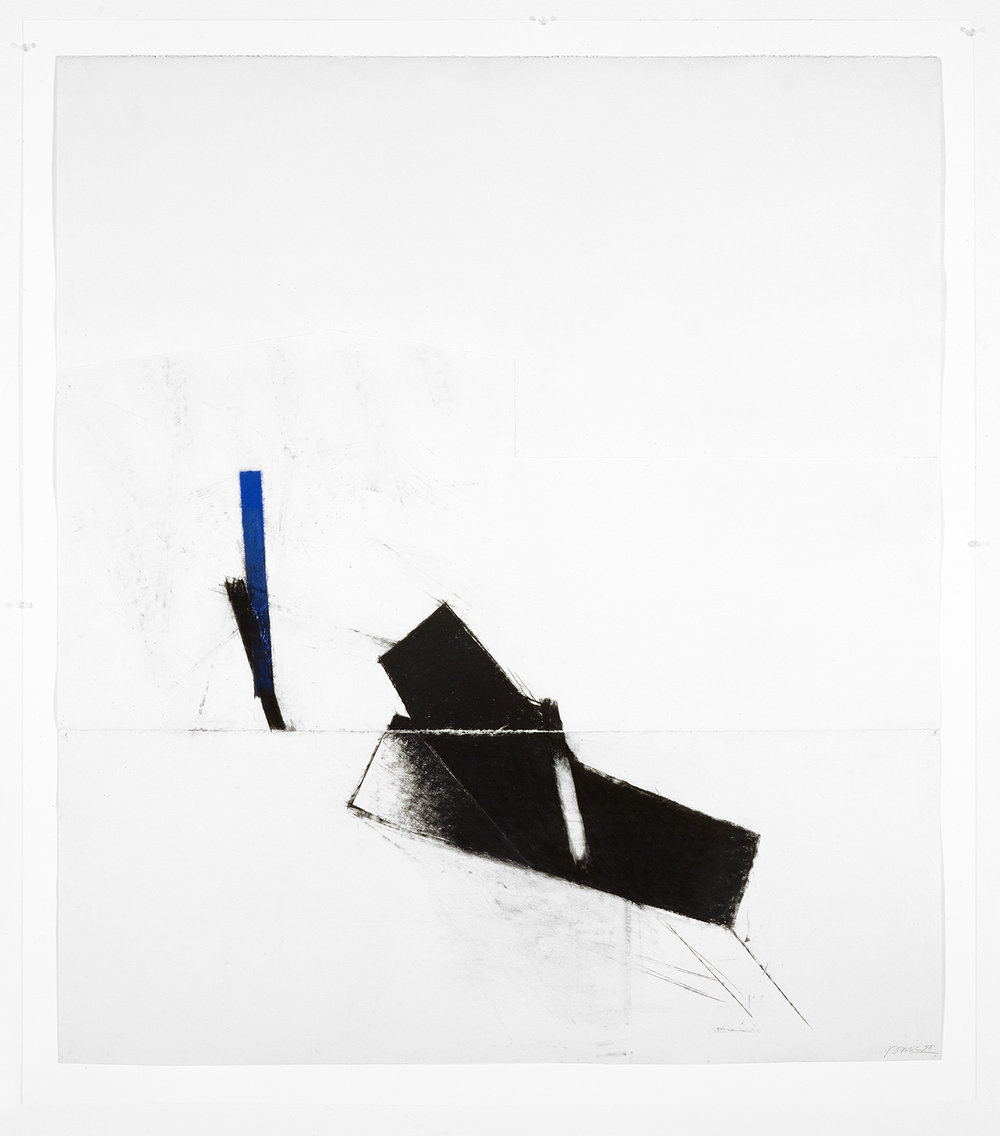 Sans titre  (1988 - 1992)   Techniques mixes et papier collé sur papier Stonehenge, 143.5 x 127 cm, collection privée. photo : Richard-Max Tremblay
