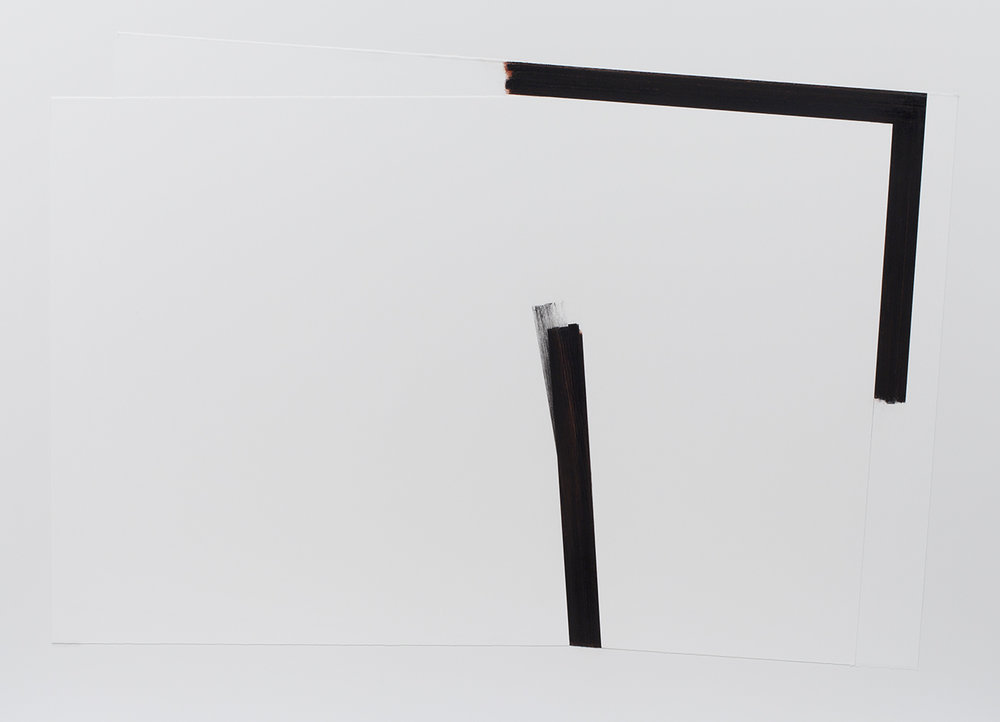 Gravitation no.5  (2014)   Techniques mixes et papier collé sur Dibond,104 x 143 cm, collection Hydro-Québec. photo : Richard-Max Tremblay