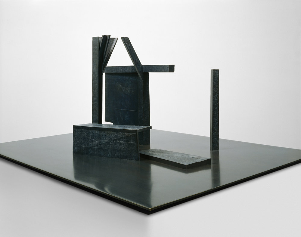 Le dernier jardin 2  (2003)   Bronze et laiton, 50.5 x 92 x 122 cm, collection de l'artiste. photo : Richard-Max Tremblay