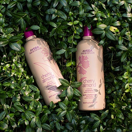 Cherry Almond  restores softness and shine from roots to ends