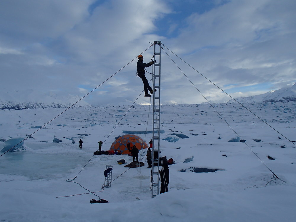 Ice rigging can be accomplished- even in January