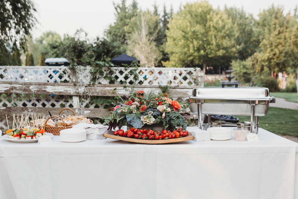 Southern Oregon wedding fruit buffet