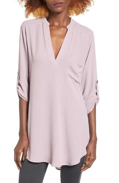 "Lush ""Perfect Roll Tab Sleeve Tunic"""