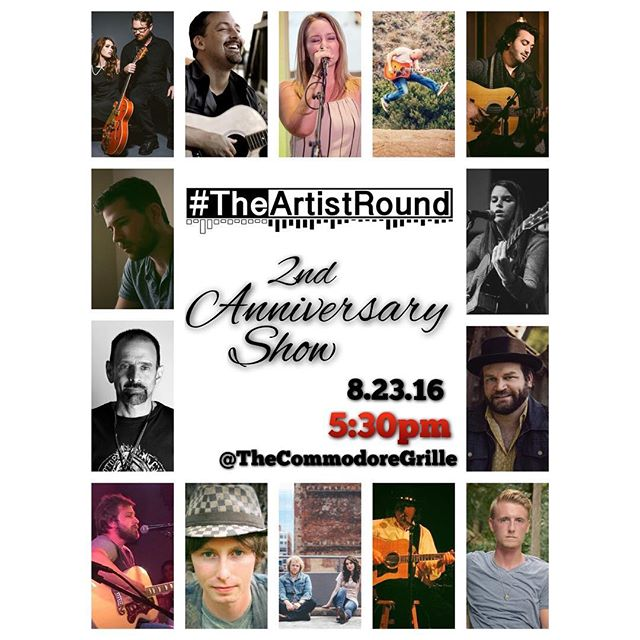 We're honored to get to be a part of the 2nd Anniversary show for #theartistround at The Commodore Grille tonight! We're in the first round at 5:30pm! So many talented writers will be there and we also heard there will be cake! What more could you want? See you there! #Nashville #songwriters #cake