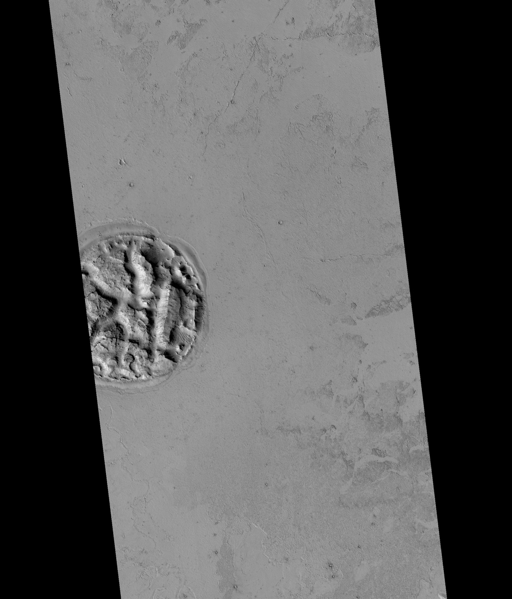 Feature Rory described during his undergraduate research. Image credit: NASA/JPL/University of Arizona