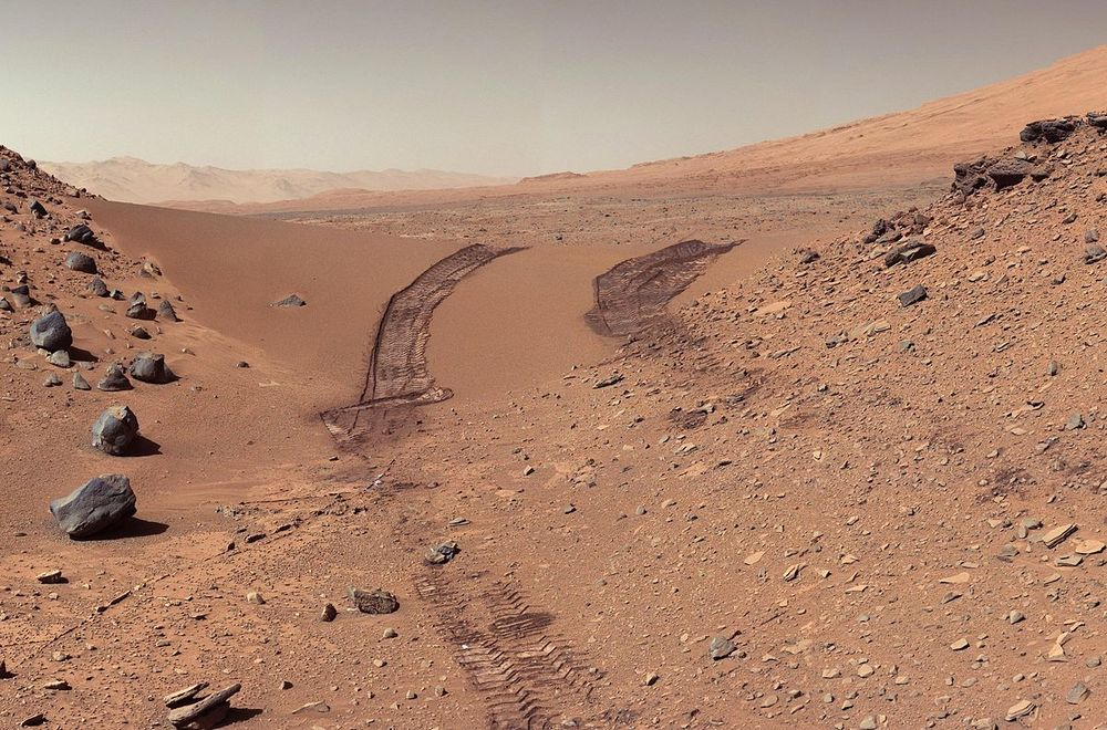 Curiosity's Color View of Martian Dune. Image credit: NASA/JPL-Caltech/MSSS [Public Domain]