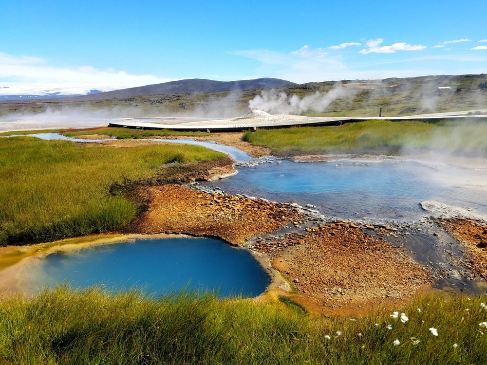 Hot spring in Hveravellir, Iceland, a region considered to be an analog for early Mars. Photo Credit: J.R. Skok
