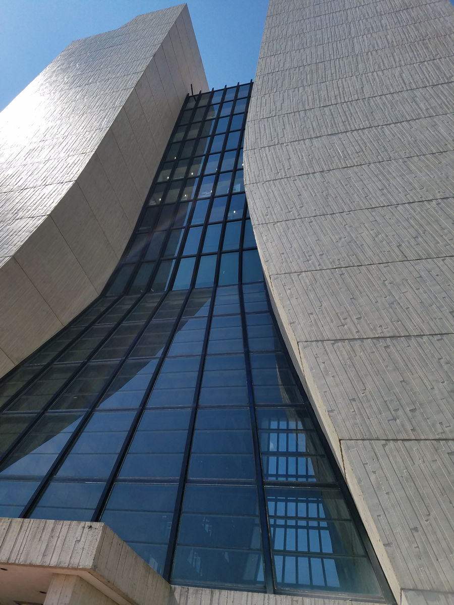 This is the outside of Fermilab main building, Wilson Hall. Photo by Amber Stuver.