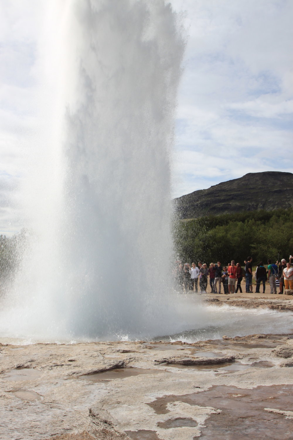 "The original ""Geysir"" at Haukadalur on the Golden Circle, apopular tourist route in southern Iceland."