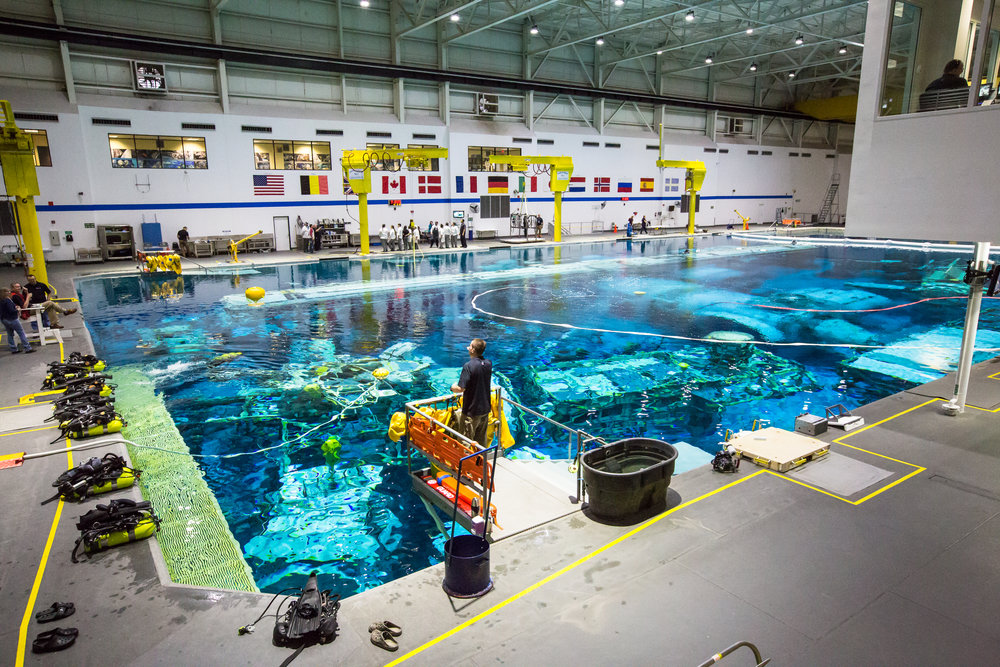 Neutral Buoyancy Pool at NBL, NASA. Photo by Paige Jarreau.