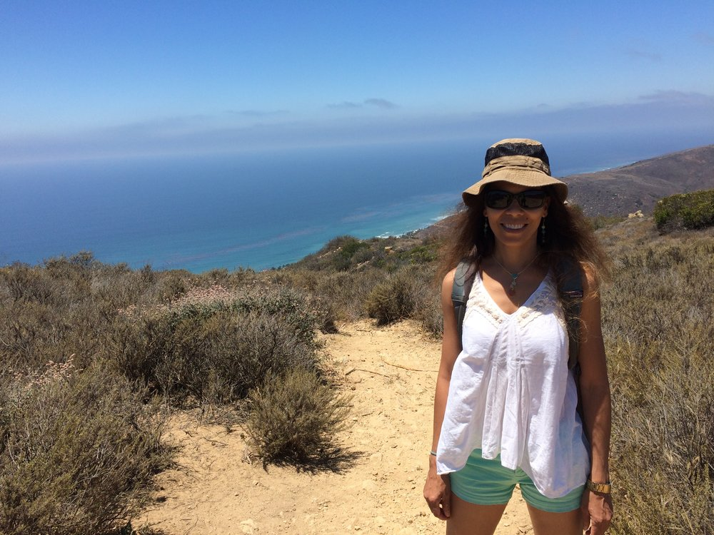 Patricia Persaud in one of her field areas in Southern California.