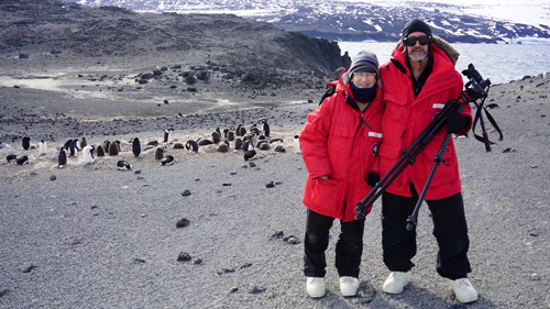 Trish Suchy and Vince LiCata in Antartica.