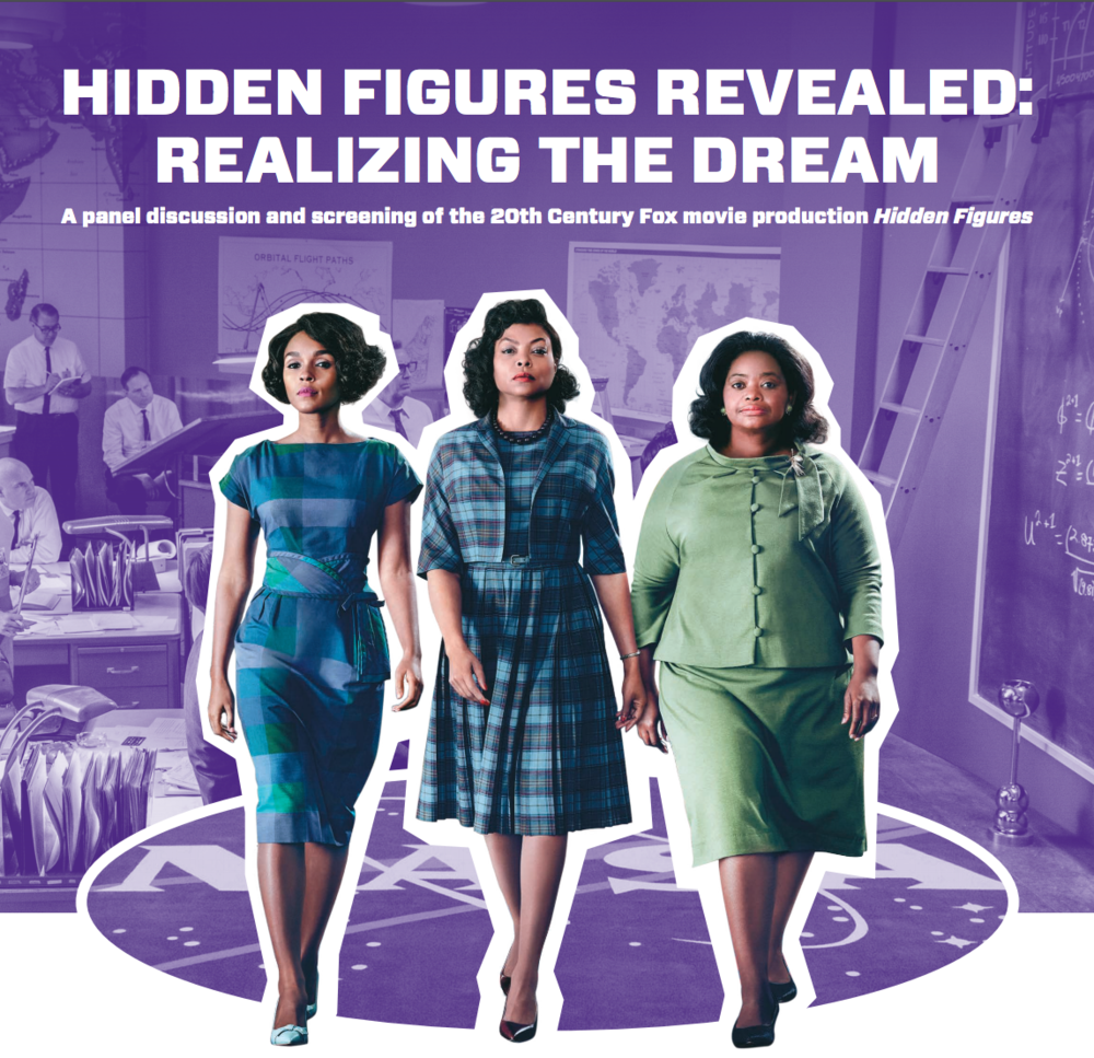 Don't miss  Hidden Figures Revealed !