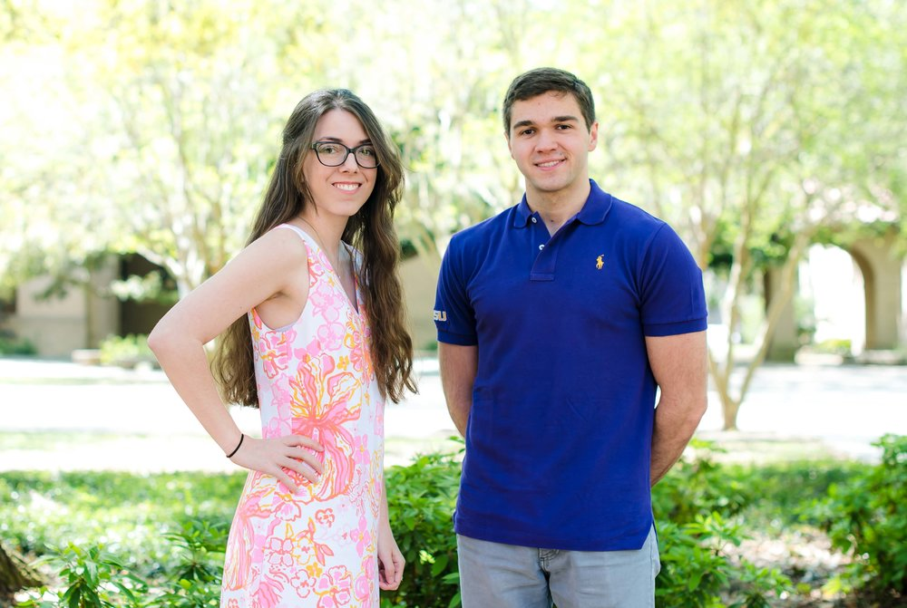 LSU Physics & Astronomy students Amy LeBleu and Harvey Shows are scholarship recipients from the Astronaut Scholarship Foundation. Photo Credit: Yao Zheng, LSU.