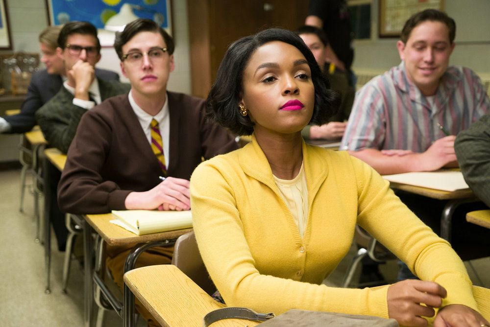 Scene in Hidden Figures depicting Mary Jackson attending graduate-level math and physics courses held at an all-white high school. Photo Credit: Hopper Stone. TM & © 2016 Twentieth Century Fox Film Corporation. Used with permission.