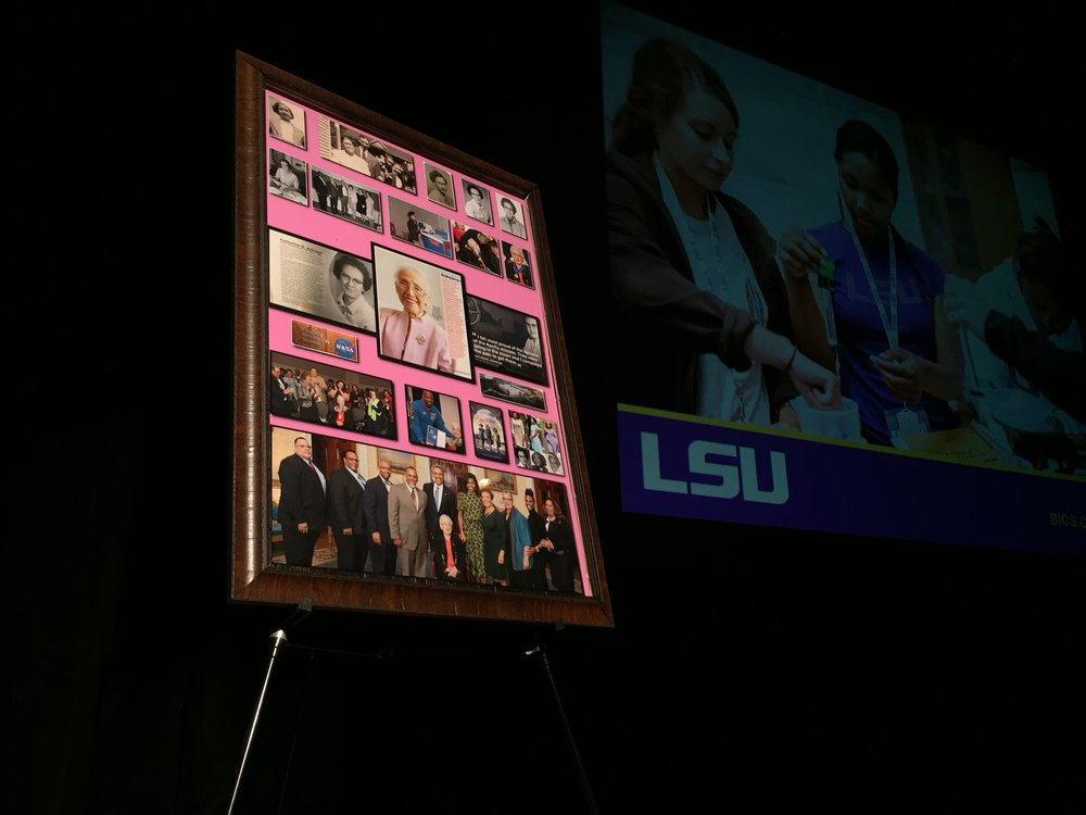Tribute to Katherine Johnson at LSU Hidden Figures Revealed. Photo by Paige Jarreau.