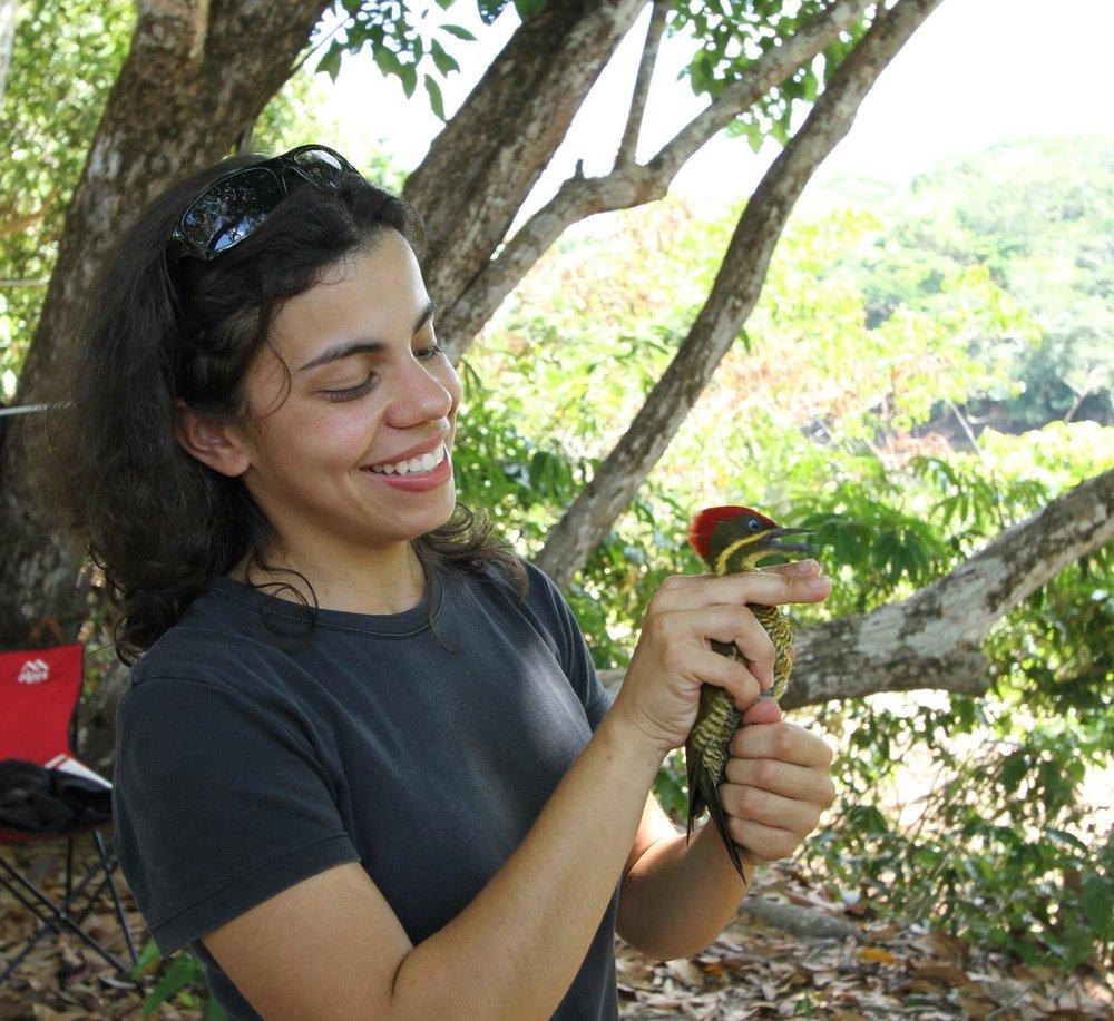 Glaucia Del Rio conducting field research. Photo compliments of Glaucia.