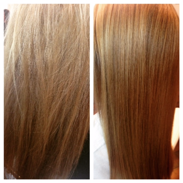 Chemical changes in hair result in smoother, shinier hair. Photo via Lubricity Labs, LLC.