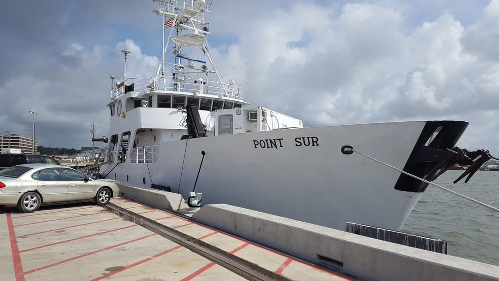Image: Researchers embarked on the R/V Point Sur this week to learn more about submarine landslide conditions in the Gulf of Mexico. Credit: LSU Coastal Studies