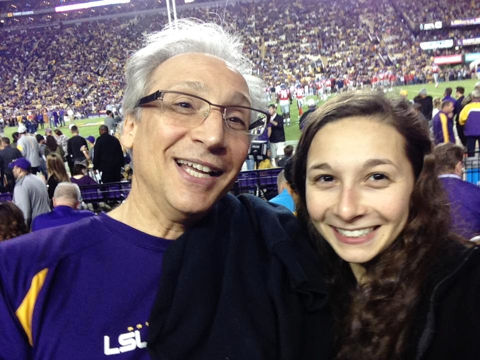 Rebecca and Dr. DiTusa at an LSU Football game.