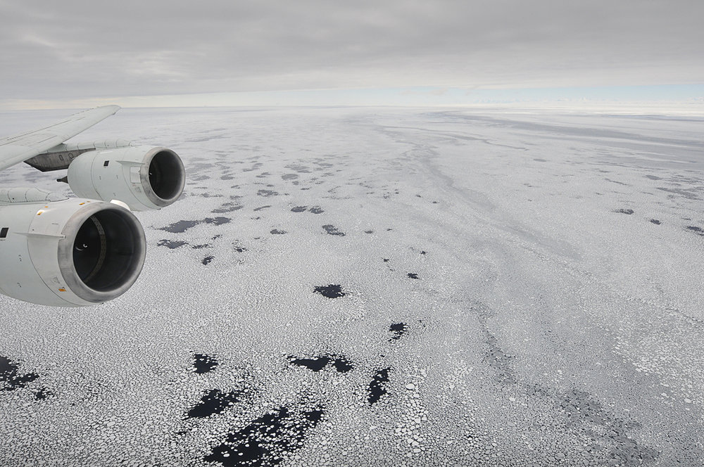 Ice Bridge Antarctic Sea Ice, seen from a plane. Credit: NASA HQ, Flickr.com