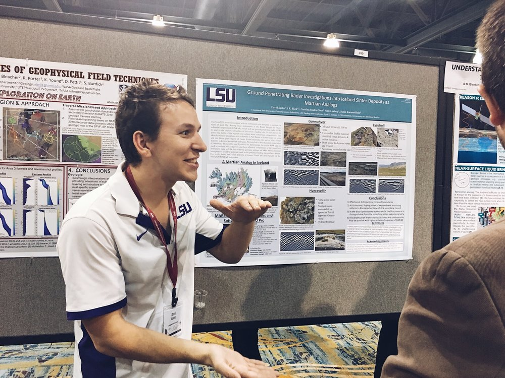 Picture of David Susko presenting at LPSC 2017. Credit: Nicki Button.