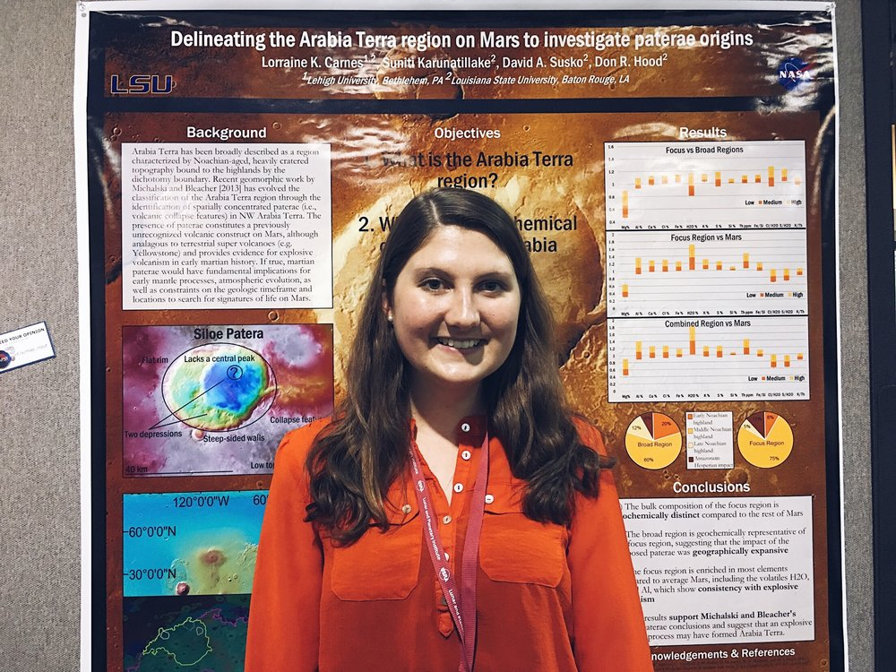 Photo of Lorrie presenting her poster. Credit: Nicki Button.