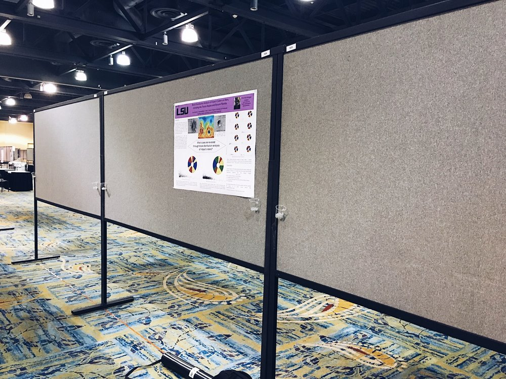 Poster board at LPSC 2017. Credit: Nicki Button.