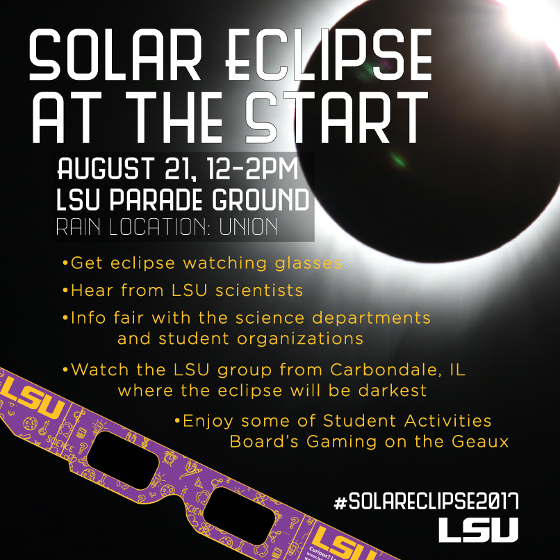 Join us for Solar Eclipse at the Start!