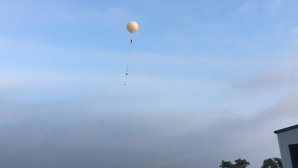 Photo of a LaSPACE balloon flight in Palestine, TX. Photo Credit: C. Fava, LaSPACE