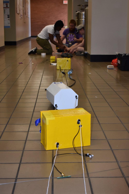 Hexagonal box contains a camera