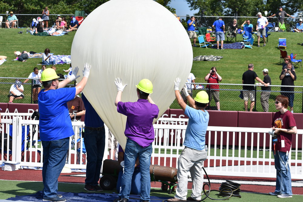 Filling a balloon