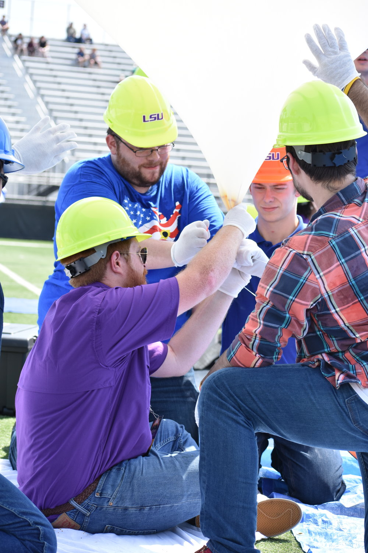 Brad Landry and LSU Eclipse Balloon team